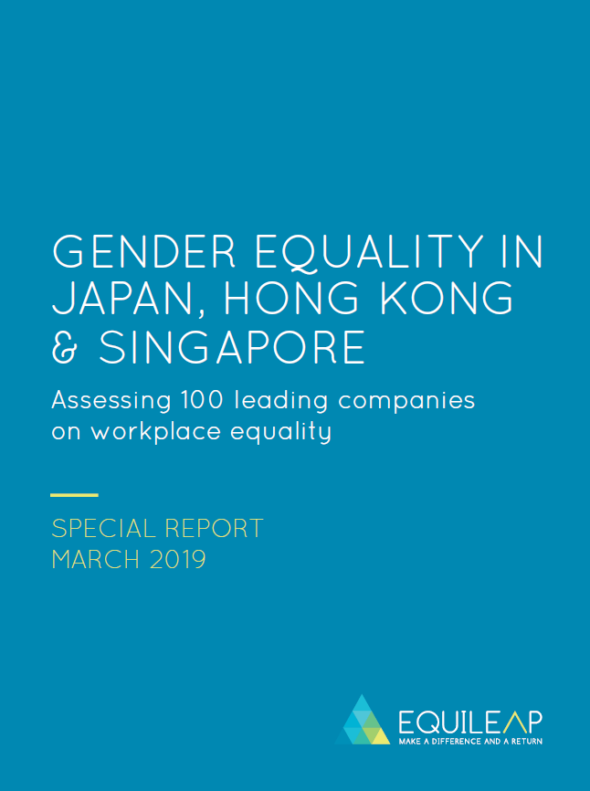 2019 Gender Equality in Japan, Hong Kong & Singapore