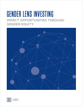 Gender lens investing, Impact opportunities through gender equity