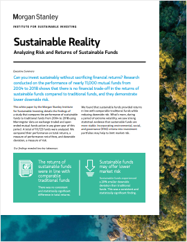 Sustainable Reality. Analyzing Risks and Returns of Sustainable Funds