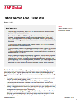 When Women Lead, Firms Win cover