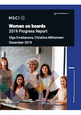 Women on boards, 2019 Progress Report cover