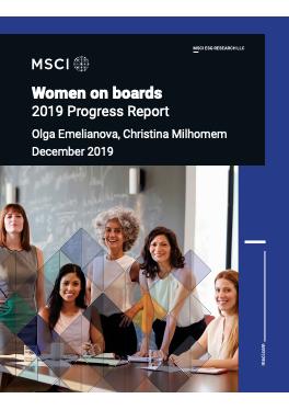 Women on boards, 2019 Progress Report cover