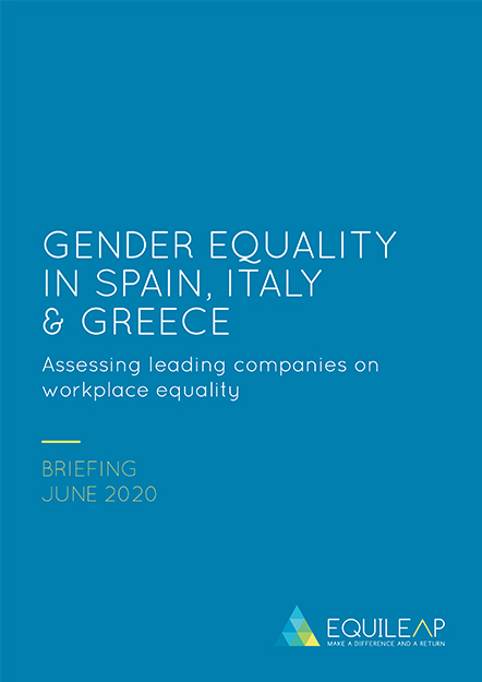 2020 Gender Equality in Spain, Italy and Greece