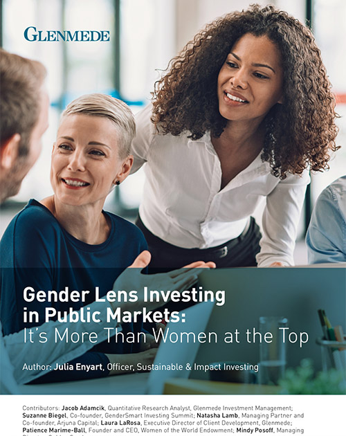 Gender Lense Investing in Public Markets - Glenmede